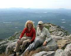 Tim and Lyn at the top of Mount Katahdin