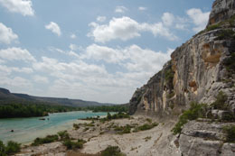 Soaring bluffs along the Devil's River in Texas