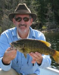 Chris Cron with another beautiful Smallie