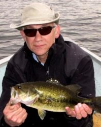 Dave with a beautiful Largemouth.