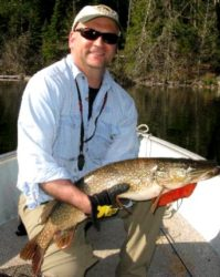 Eric with a 34 inch Pike