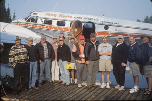 Group photo with float plane