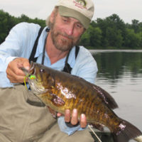 This 4-pound-plus evening smallmouth loved the quiet Foamy Pete.