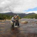 Landing trout in the Smalblaar River