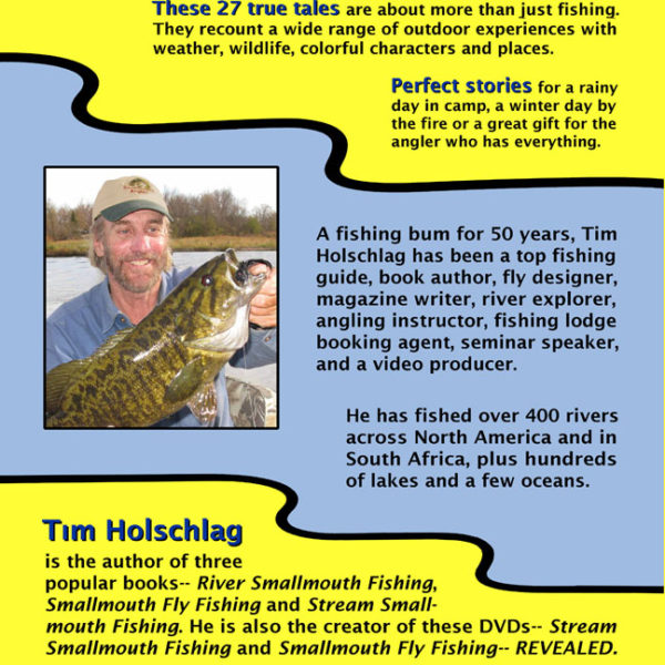 """Adventures of a Fishing Bum"" back cover"
